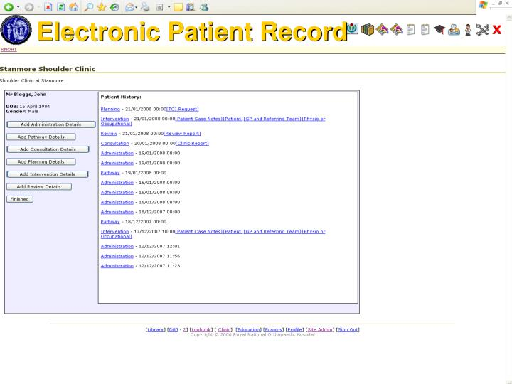 Electronic Patient Record