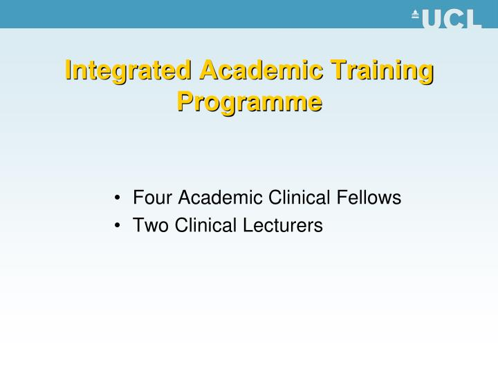 Integrated Academic Training Programme