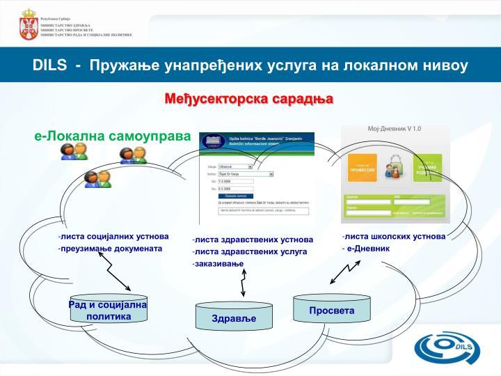 DILS  -  Пружање унапређених услуга на локалном нивоу