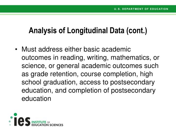 Analysis of Longitudinal Data (cont.)