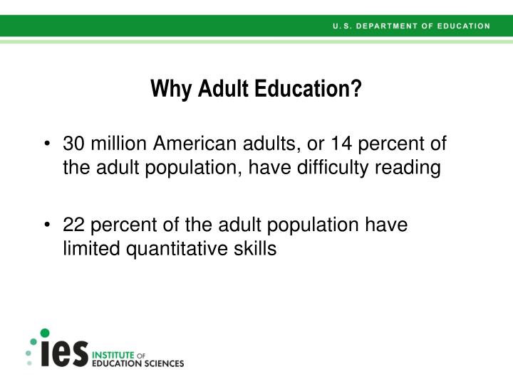 Why adult education