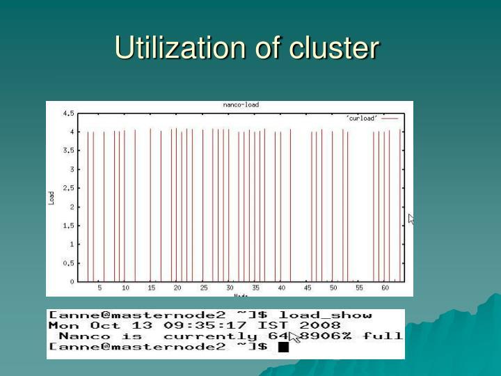 Utilization of cluster