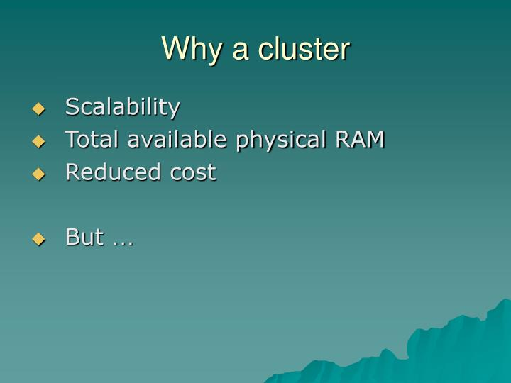 Why a cluster