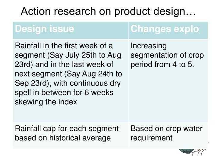 Action research on product design…