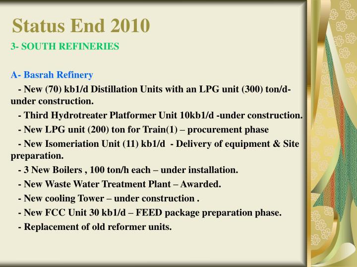 Status End 2010