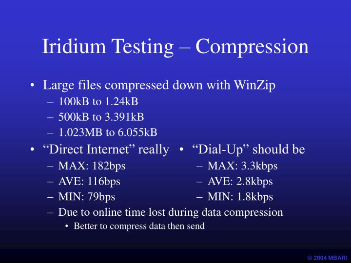 Iridium Testing – Compression
