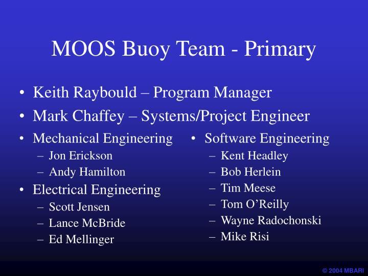 MOOS Buoy Team - Primary