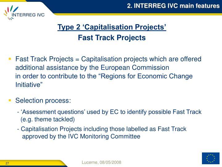 2. INTERREG IVC main features