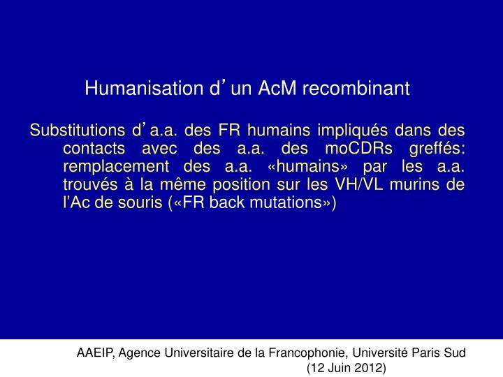 Humanisation d