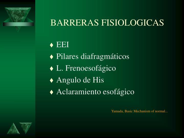 BARRERAS FISIOLOGICAS