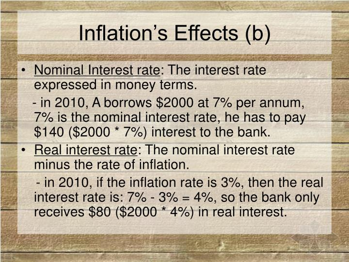 Inflation's Effects (b)