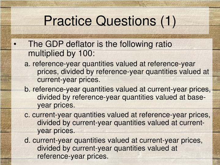 Practice Questions (1)