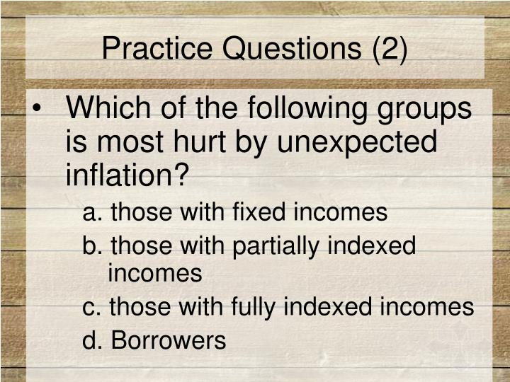 Practice Questions (2)
