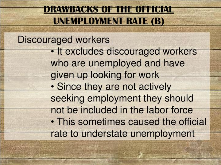 DRAWBACKS OF THE OFFICIAL UNEMPLOYMENT RATE (B)