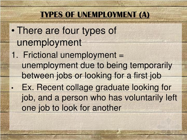 TYPES OF UNEMPLOYMENT (A)