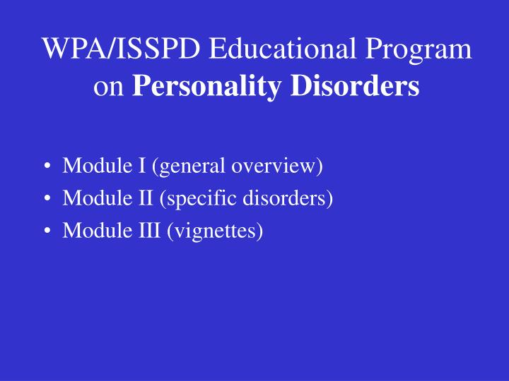 WPA/ISSPD Educational Program on