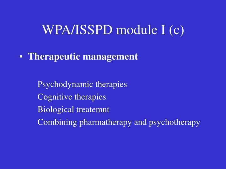 WPA/ISSPD module I (c)