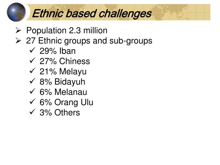 Ethnic based challenges