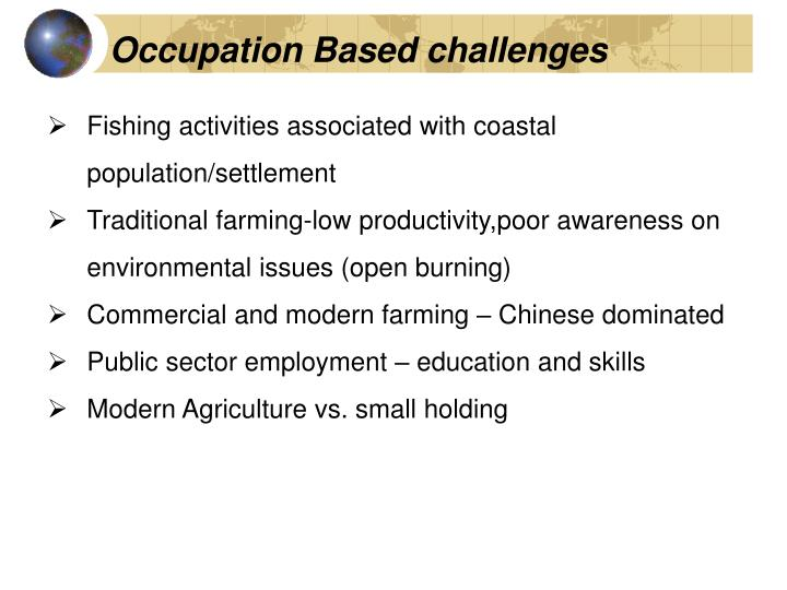 Occupation Based challenges