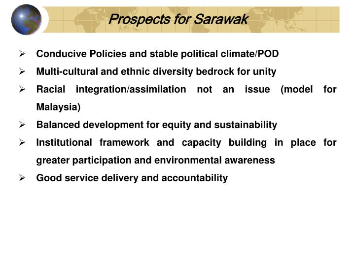 Prospects for Sarawak