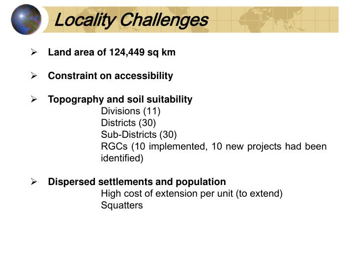 Locality Challenges