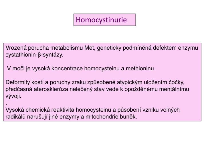 Homocystinurie