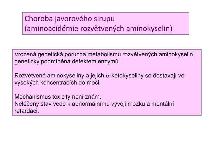 Choroba javorového sirupu