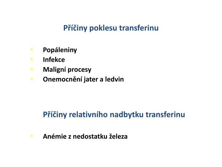 Příčiny poklesu transferinu