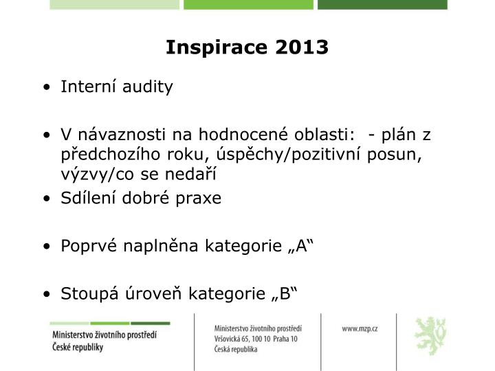 Inspirace 2013