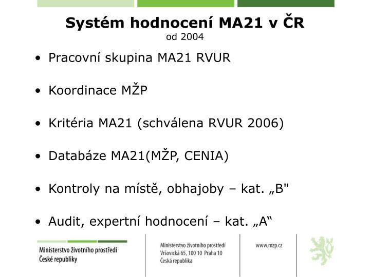 Systém hodnocení MA21 v ČR