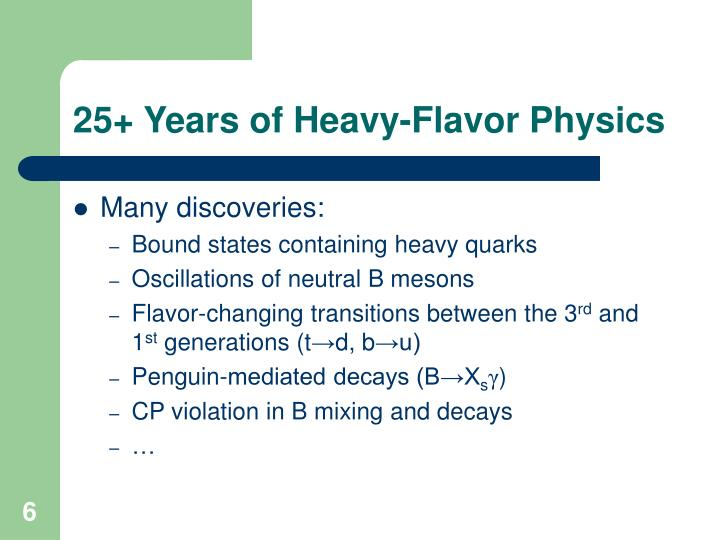 25+ Years of Heavy-Flavor Physics