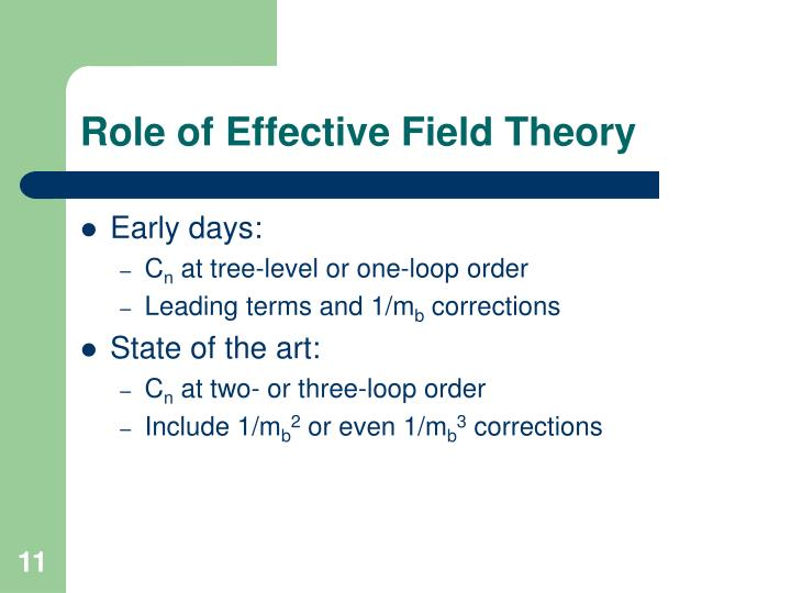 Role of Effective Field Theory