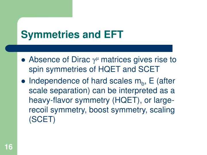 Symmetries and EFT