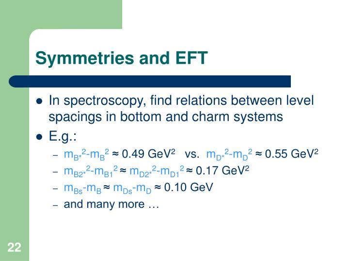 Symmetries and EFT