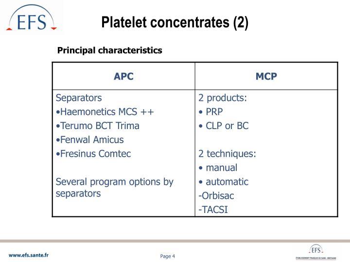 Platelet concentrates (2)