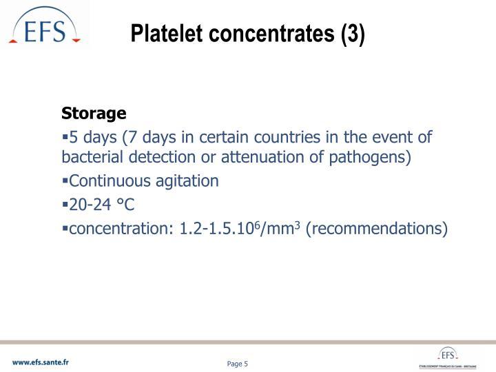 Platelet concentrates (3)