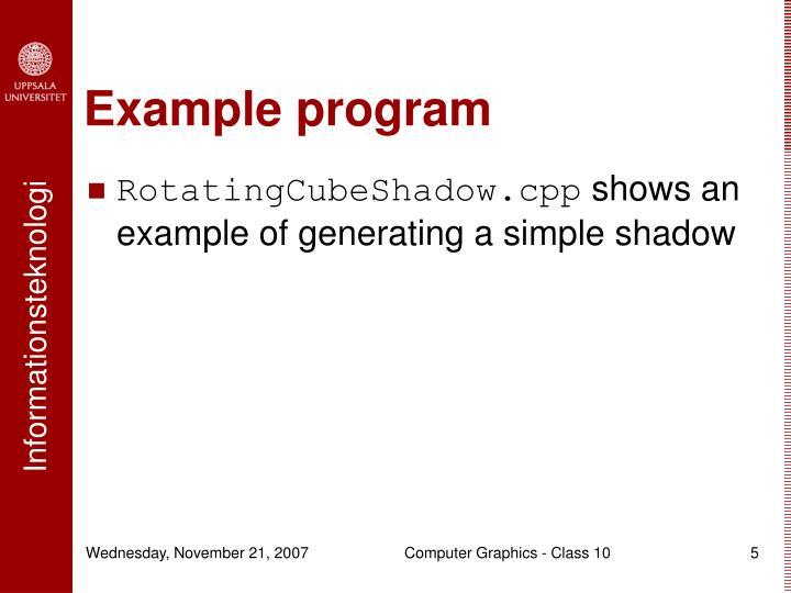 Example program