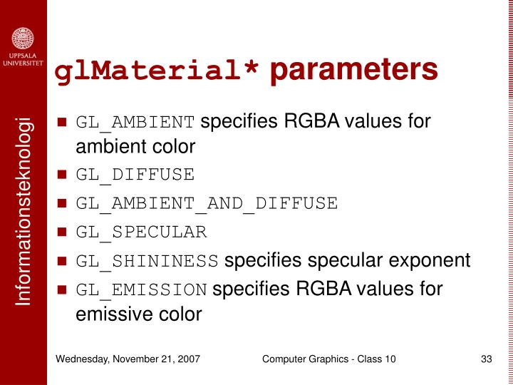 glMaterial*