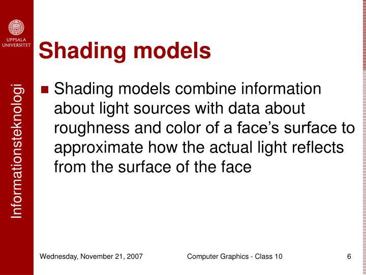 Shading models