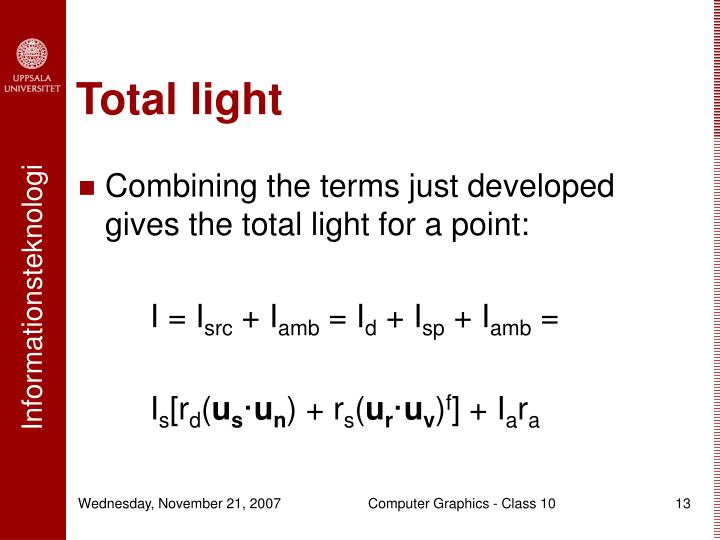 Total light