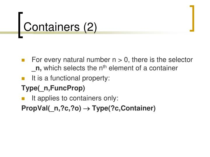 Containers (2)