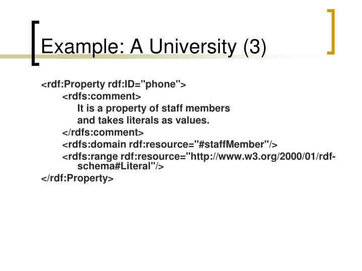 Example: A University (3)