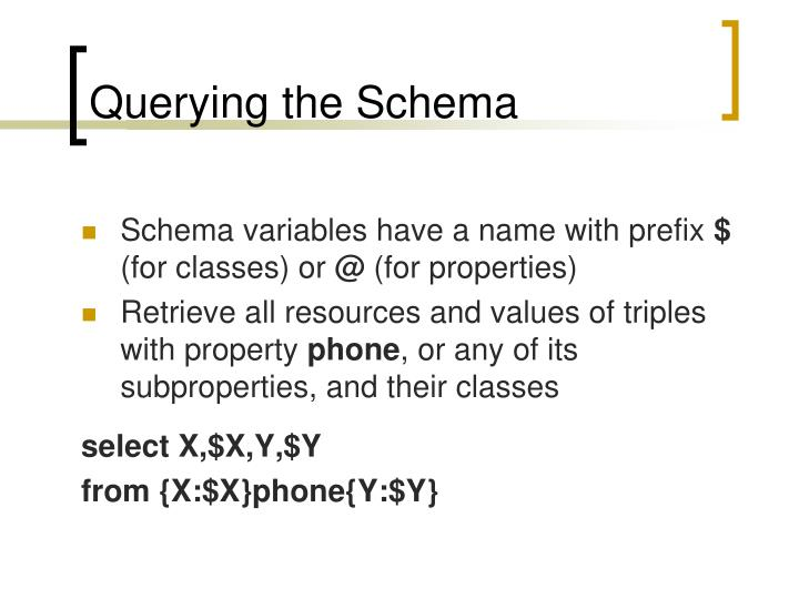 Querying the Schema