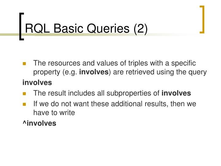 RQL Basic Queries (2)