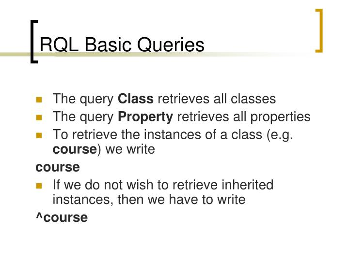 RQL Basic Queries