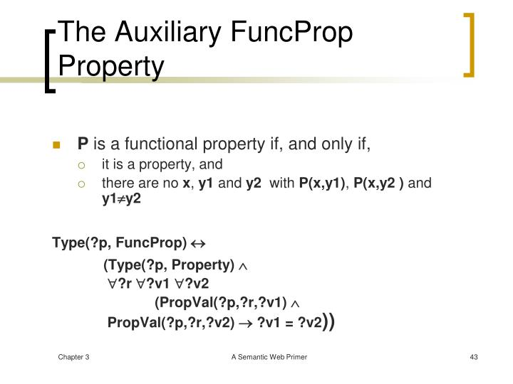 The Auxiliary FuncProp Property