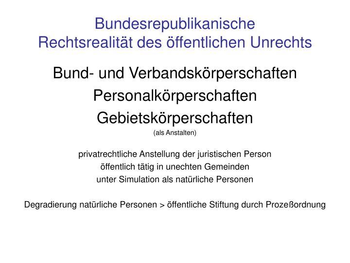 Bundesrepublikanische