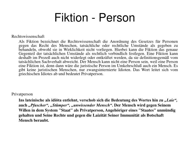 Fiktion - Person