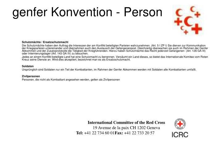 genfer Konvention - Person