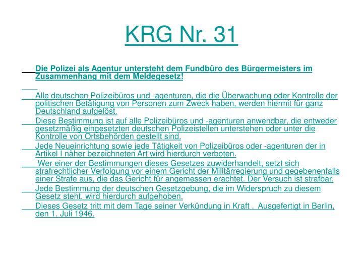 KRG Nr. 31